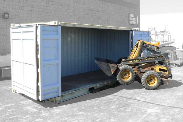 Open Side Portable Storage Container Unit
