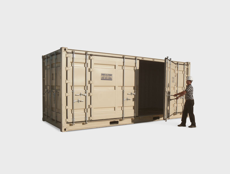 20' Open-side Storage Container Pod