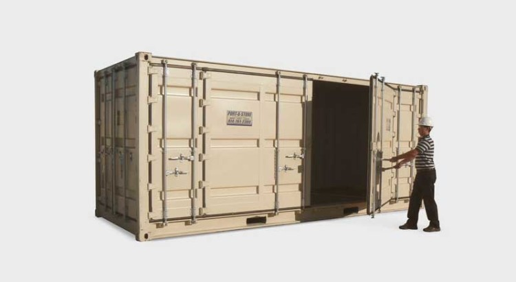 20x8 open side door storage container unit